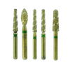Crosstech Turbo Short Shank Diamond Burs - All Shapes